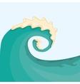Huge ocean wave for surfing vector image