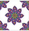 fabric abstract flowers seamless pattern vector image