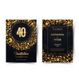40th years birthday black paper luxury