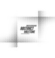 abstract line style halftone black and white vector image