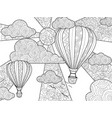 aeronautic balloon coloring book for adults vector image vector image