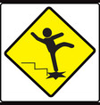 be careful steps sign warning symbol vector image vector image