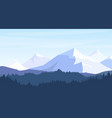 beautiful mountains with vector image vector image
