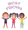best friends celebrate holiday for children vector image vector image