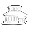 Big house icon outline style vector image vector image