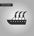 black and white style icon cruise ship vector image