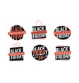 black friday logo sale discount low price vector image vector image