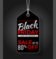 black friday sale tag vector image vector image