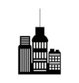 business buildings skyscrapers exterior silhouette vector image vector image