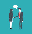 business coworkers communicating vector image