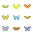 Butterfly icons set cartoon style vector image vector image