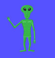 cartoon character alien green alien group of vector image vector image