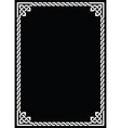 Celtic knot braided white frame - rectangle vector image vector image