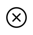 close icon delete symbol vector image