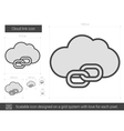Cloud link line icon vector image vector image
