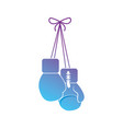 contour gloves to play boxing sport vector image vector image