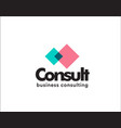 corporate business cunsulting card vector image