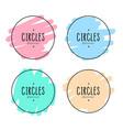doodle style circles frame set design vector image