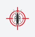 earwig icon red target insect pest control sign vector image