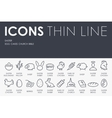 Easter Thin Line Icons vector image