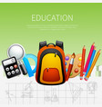 education realistic poster vector image vector image