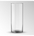 empty realistic drinking glass cup vector image