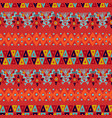 ethnic abstract tribal boho seamless pattern art vector image