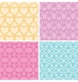 Four matching heart motives seamless patterns vector image vector image
