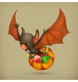 Funny bat icon vector image