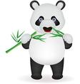 Funny panda eating bamboo vector image
