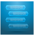 Glass elements of infographics vector image