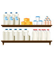 group of dairy items vector image vector image