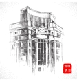 Hand drawn City building vector image