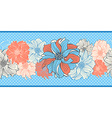 hand-drawn flowers dahlia seamless border vector image vector image
