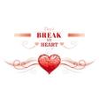 Happy Valentines day border broken heart cracks vector image vector image