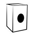 isolated cajon outline musical instrument vector image vector image