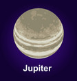 jupiter planet icon isometric style vector image vector image