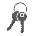 keys glyph icon lock and home access sign vector image