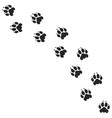 lion paw print silhouette vector image vector image