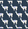 llama in hat seamless pattern vector image vector image