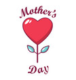 mom day icon cartoon style vector image