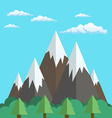 Natural landscapes of mountains and forest in a vector image vector image