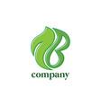 nature logo design eps 10 vector image vector image