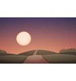 Night Cartoon Landscape vector image vector image
