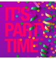 Party design template with streamers vector image vector image
