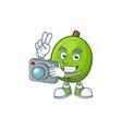 photographer casimiroa fruit cartoon character vector image vector image