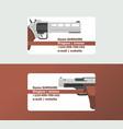 pistols business card western gun cowboys retro vector image vector image