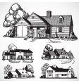 retro real estate vector image vector image