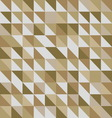 Retro triangle pattern with brown background vector image vector image