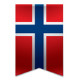 Ribbon banner - norwegian flag vector image